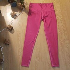 Teeki fuchsia pink high waist leggings